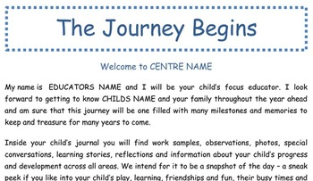 Early Childhood Education Journal or Portfolio - The Journ
