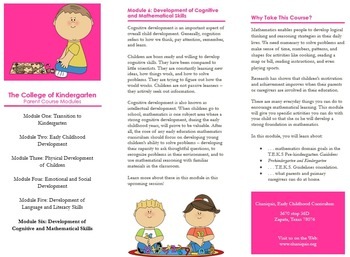 P.T.A. and P.T.O. Early Childhood Parental Workshop Pack (
