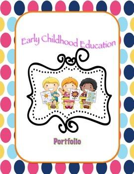 Early Childhood Portfolio Binder Inserts