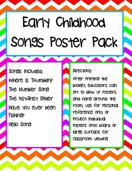 Early Childhood Songs Poster Pack