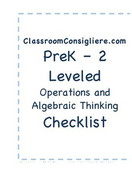 Mastery based Operations and Algebraic Thinking checklist