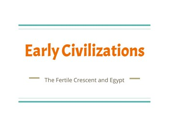Early Civilizations PPT (River Valleys, Fertile Crescent,