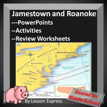 Jamestown Roanoke Early Colonial Settlements PowerPoint,Wo