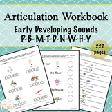 Articulation Workbook Early Developing Sounds