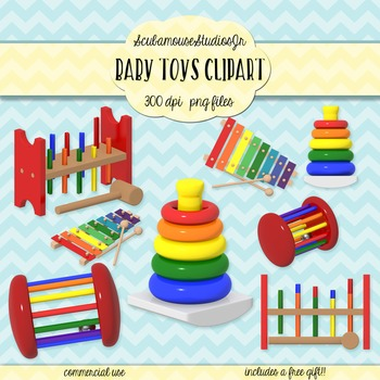 Early Education Toys Clipart, Baby Toddler Toys