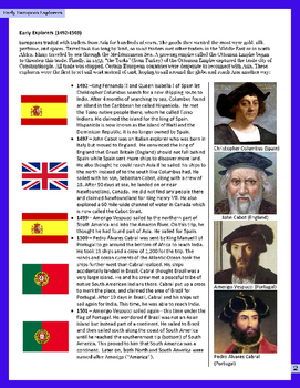 Early European Explorers-1492-1503