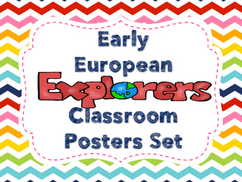 Early European Explorers Poster Set