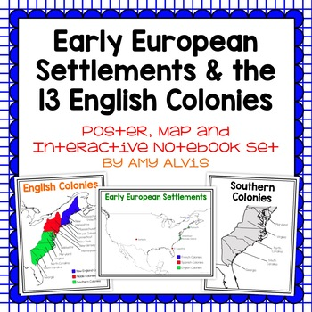 Early European Settlements & the 13 English Colonies Packet