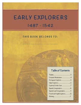 Early Explorers Student Note Taking Booklet (United States