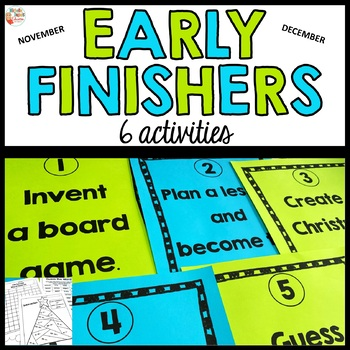 Early Finisher Board - Christmas