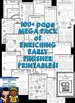 Early Finishers Activities for Kindergarten, 1st Grade and