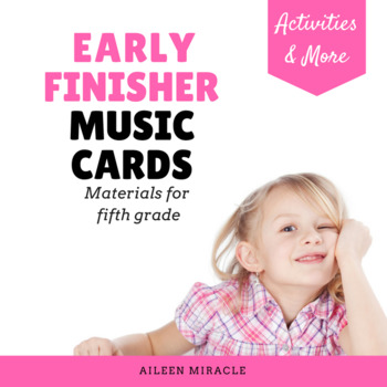 Early Finisher Music Cards {Fifth Grade}