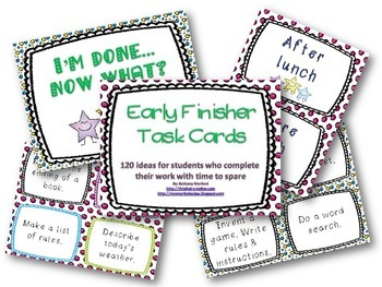 Early Finisher Taskcards