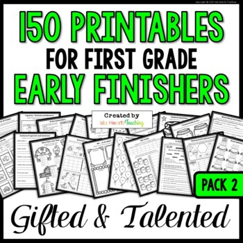 Early Finishers Activities: 1st Grade Fast Finishers