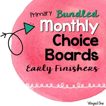Early Finishers Choice Boards {Primary}