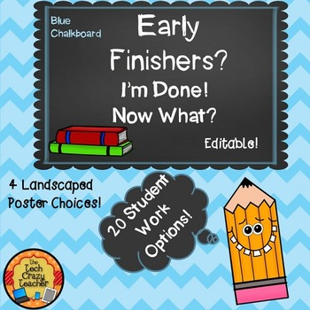 Early Finishers I'm Done...Now What? Classroom Management