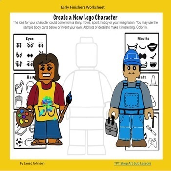 Early Finishers - Create a New Lego Character