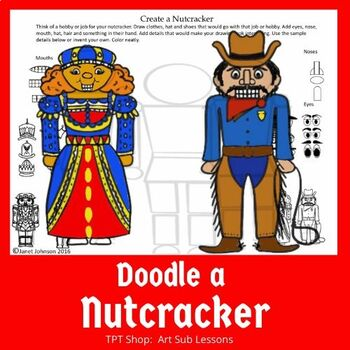 worksheet for early finishers to draw a nutcracker