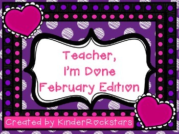 Early Finishers February Edition