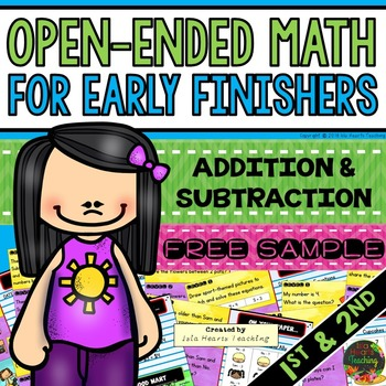 Early Finishers: Math Early Finishers Activities (1st and