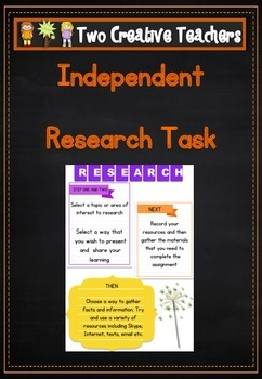 Early Finishers Research Task