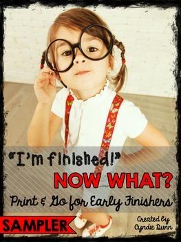 Early Finishers Sampler