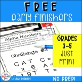 FREE Early Finishers and Gifted Math Challenges