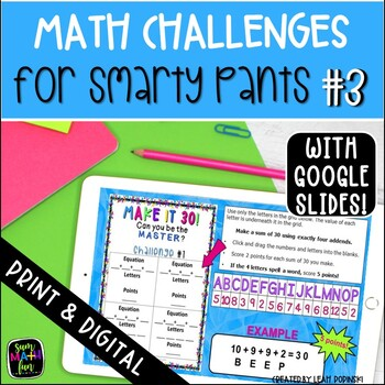 Early Finishers and Gifted Math Challenges #3