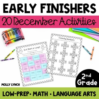 Early Finishers for 2nd Grade - December