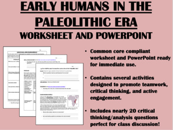 Early Humans in the Paleolithic Era Bundle - Global/World