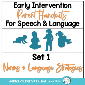 Early Intervention Parent Handouts for Speech and Language