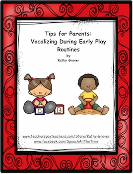 Early Intervention Tips for Parents: Vocalizing During Ear