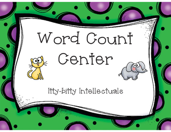 FREE Early Literacy Center- Word Count