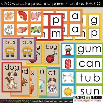 Early Literacy Tools: CVC Words for Preschool Parents. Pri