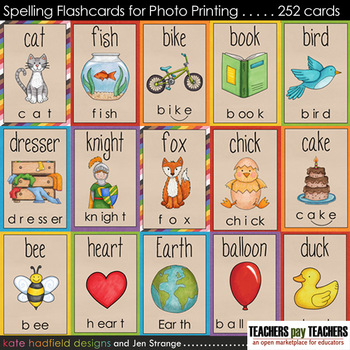 Early Literacy Tools: Spelling Flashcards for Photo Printing