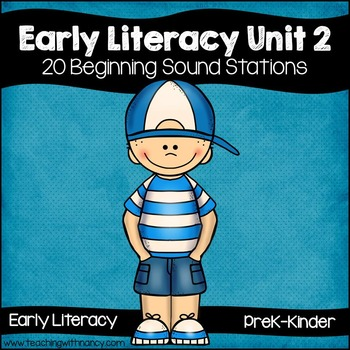 Early Literacy Unit 2: Alliteration {20 Beginning Sound Ac