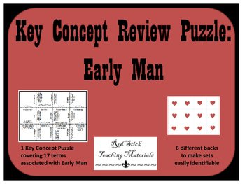 Early Man Key Concepts Puzzle