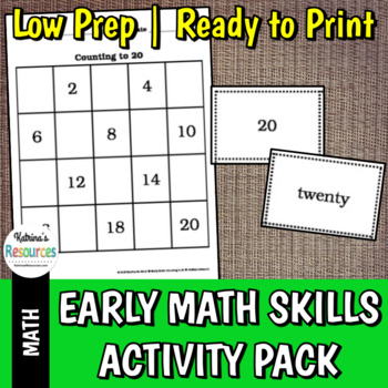Early Math Activity Packet: Numbers, Counting, Place Value