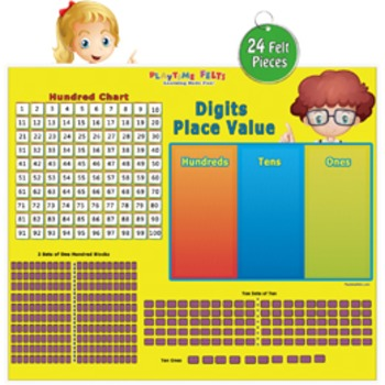 Early Math Skills: Digits Place Value & Hundred Chart Acti