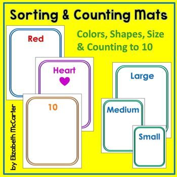 Sorting and Counting Mats (colors, shapes, counting to 10)
