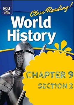 """Middle Ages Holt World History Ch. 9 Sec. 2 """"Europe after"""