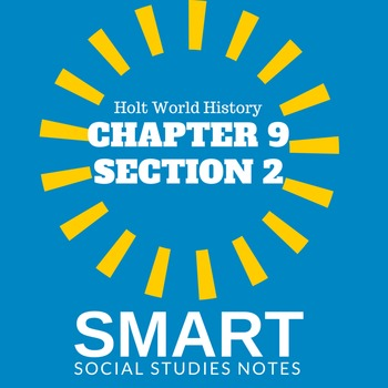 Middle Ages SMART Cornell notes Holt World History Test CH