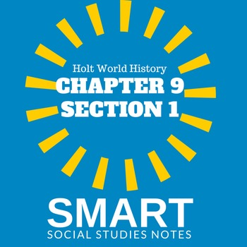 Middle Ages SMART Cornell notes Holt World History Ch. 9 Sec. 1