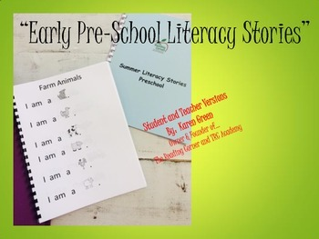 Early Pre-School Literacy Stories
