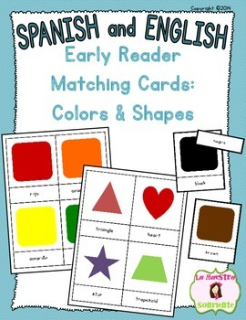 Early Reader Matching Cards: Colors and Shapes (Spanish an