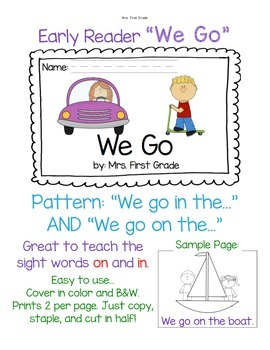 "Early Reader ""We Go"""