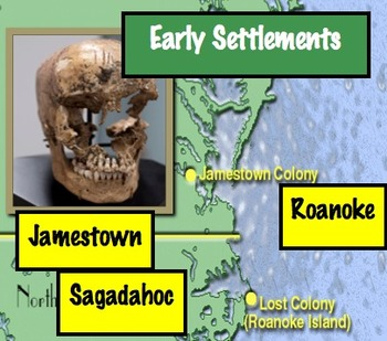Early Settlements: Case Study - Sagadahoc, Roanoke, Jamest