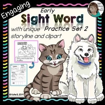 Sight Word Kindergarten Set 2