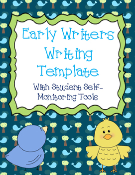 Early Writers Writing Template - Helps Students Self-Monit