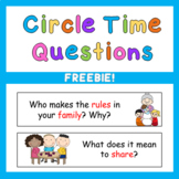 Early Years PreK Circle Time Questions FREE